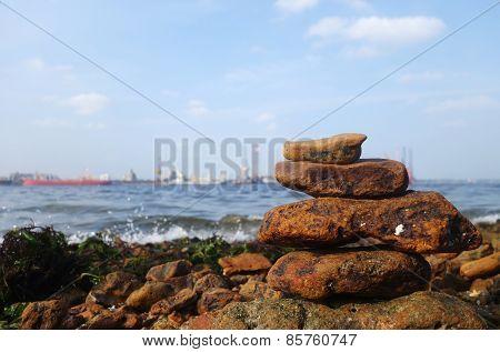 Rocks On The Coast Of The Sea