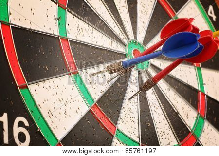 Arrows Darts Hit The Target