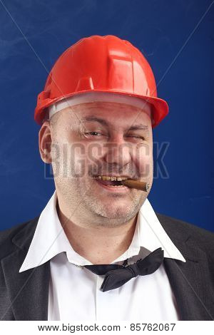 Man With Red Helmet