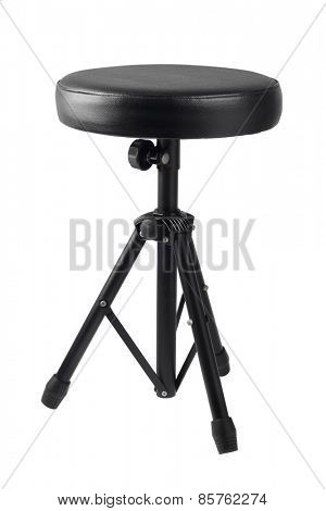 Black Drum Throne On White Background