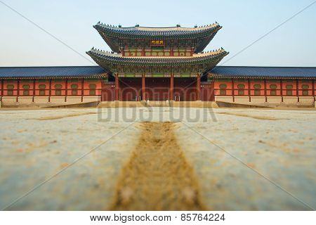 Gyeongbok gung Palace In Seoul, South Korea