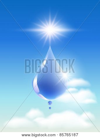 Drop Of Water In The Clouds