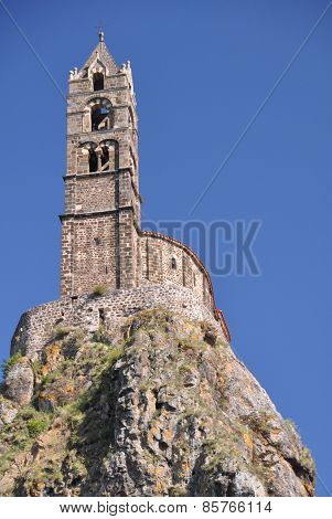 Mont D'aiguilhe At Le Puy En Velay