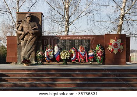 Memorial of Second World War in Nazarjevo, not far from Moscow.