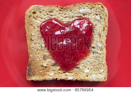 Toast On Red