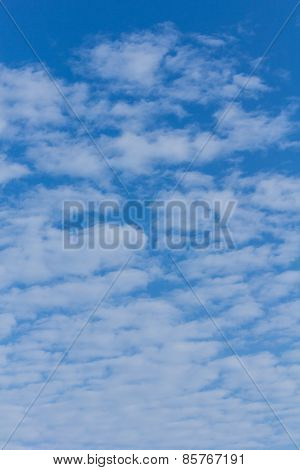 Beauty Clouds With Blue Sky Background