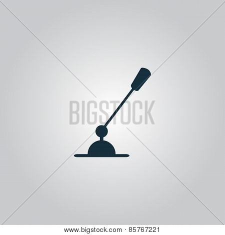 PC Microphone. Single flat icon. Vector illustration.