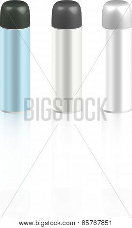 Basic RgbCosmetic bottles for foam or hair spray
