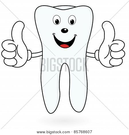 Healthy Cartoon tooth
