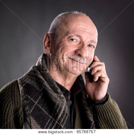 Senior Man With Cell Phone