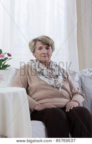 Sad Elder Woman