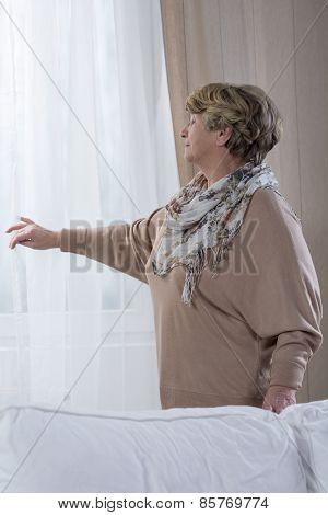 Elder Woman At Home