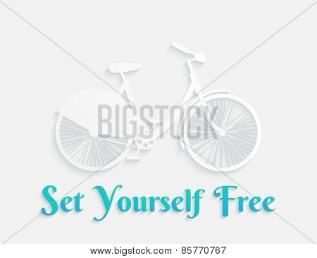 White concept bicycle