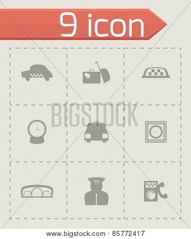 Vector taxi icon set