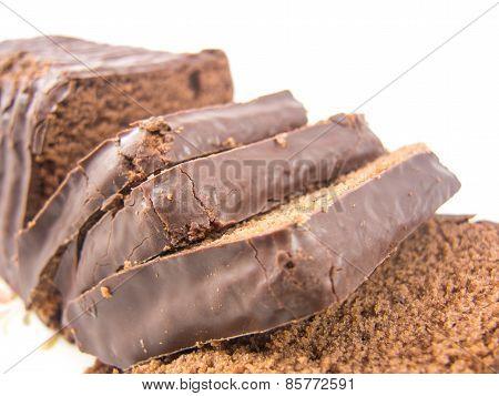 Sliced choco cake