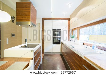 Bright Kitchen In Modern House