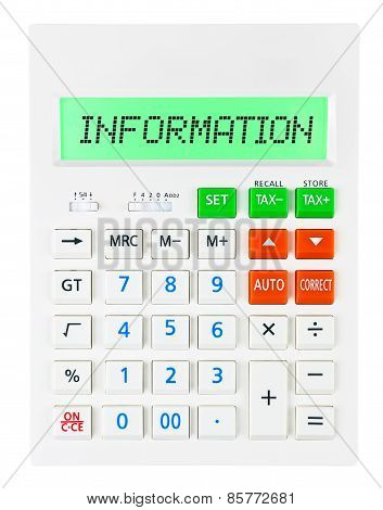 Calculator With Information