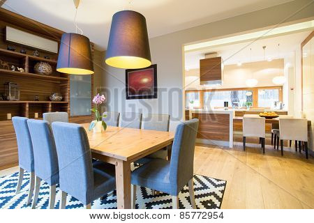 Dinning Room In Modern House