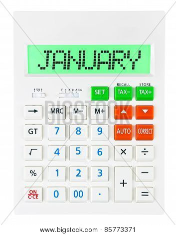 Calculator With January