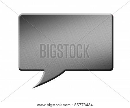 Metal Speech Bubble