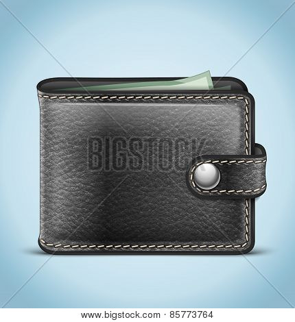 Vector Realistic Leather Wallet