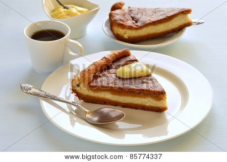 Cottage cheese and pumpkin pie