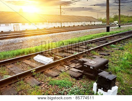 Grass near rails