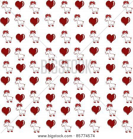 pattern and deer heart