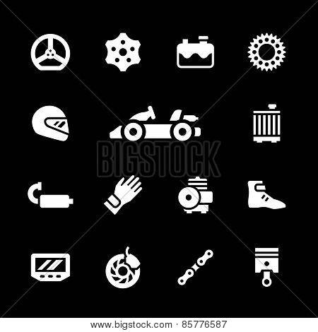 Set Icons Of Karting