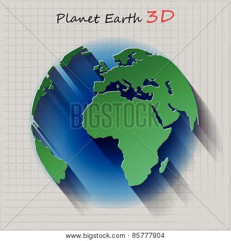 Planet Earth Three Dimensional