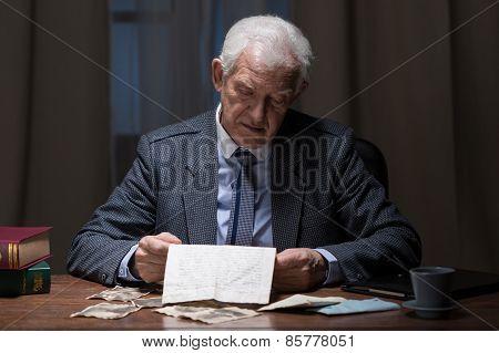 Lonely Senior Businessman