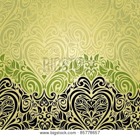 Green vintage invitation background