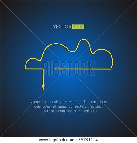 Cloud service stylish icon. Network technology and remote storage concept. Vector illustration