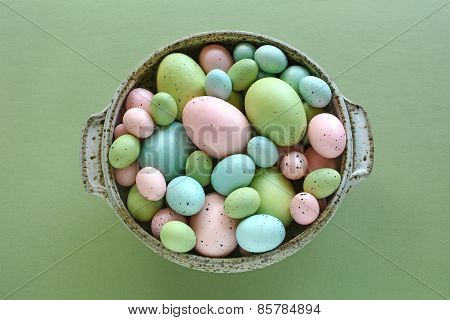 Easter Eggs In Speckled Dish
