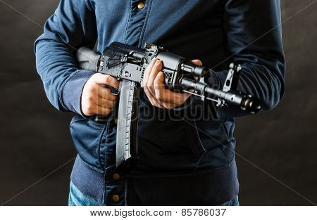 Terrorist Holding Rifle