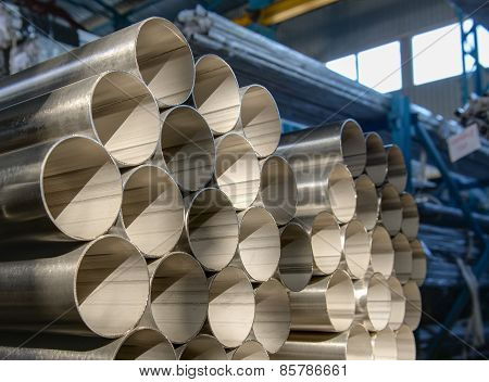 Stack Of Steel Pipes