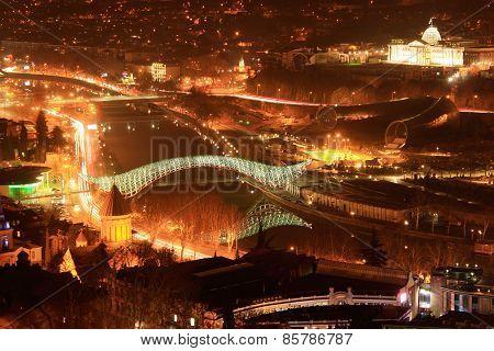 Tbilisi Night Cityscape