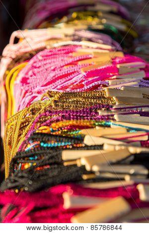 Colorful Handmade Bracelets Detail