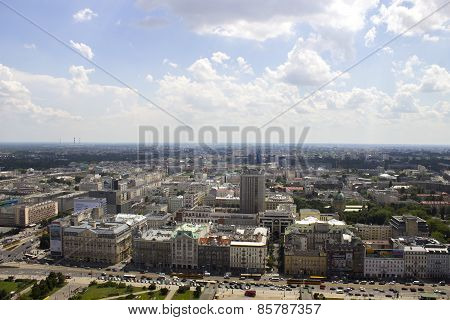 Warsaw From The Palace Of Culture And Science