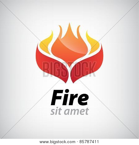 vector abstract fire icon