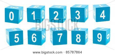 Playing cubes with numbers
