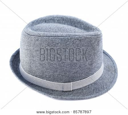 Light gray hat isolated