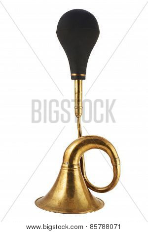 Horn klaxon instrument isolated
