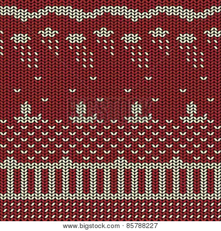 Fabric line background pattern with ship on the sea