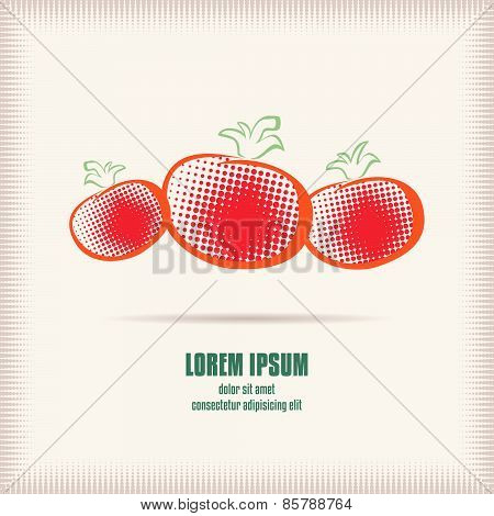 Three Red Tomatoes Logo Template
