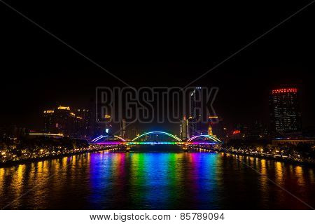 Jiefang Bridge At Night