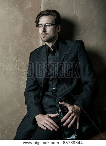 Young businessman.Fashion handsome male.
