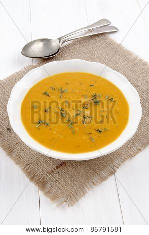Sweet Potato Soup With Thyme