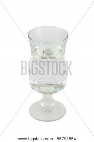 Glass shot of vodka isolated