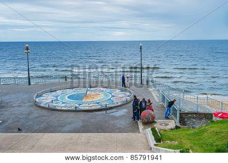 Mosaic sundial in Svetlogorsk, Russia